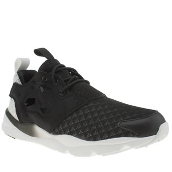 Womens Reebok Black & White Furylite Sheer Trainers