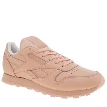 Reebok Pale Pink Classic Leather Spirit Trainers