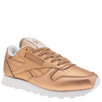 Reebok Bronze Classic Leather Spirit Womens Trainers