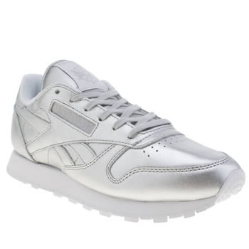 Reebok Silver Classic Leather Spirit Trainers