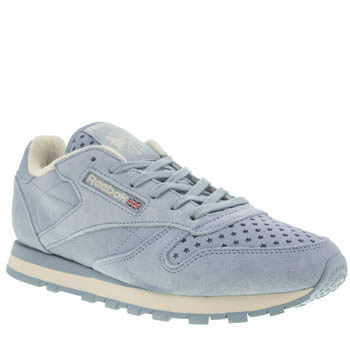 Reebok Pale Blue Classic Premium Perforated Trainers