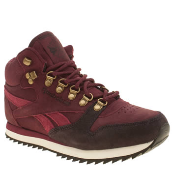 Reebok Burgundy Classic Mid Winterized Trainers