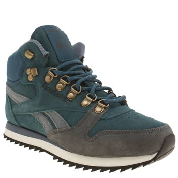 Reebok Teal Classic Mid Winterized Trainers