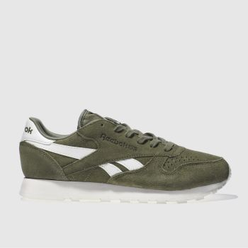 Reebok Khaki Classic Leather Suede Trainers