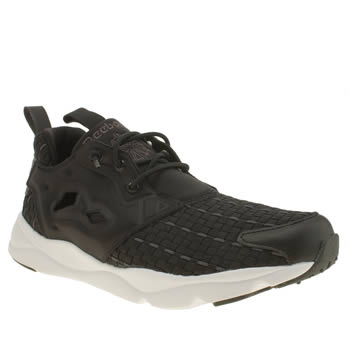 Reebok Black & White Furylite New Woven Trainers