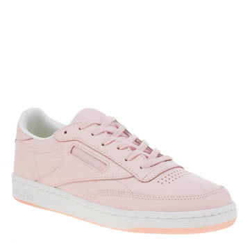 Reebok Pale Pink Club C 85 Womens Trainers