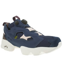Reebok Navy & White Instapump Fury X Face Womens Trainers