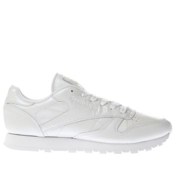 Reebok White Classic Leather Pearlized Womens Trainers