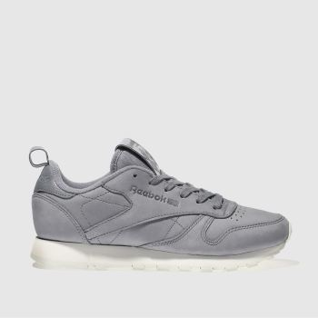 Reebok Grau Classic Leather Damen Sneaker