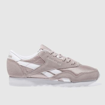 Reebok Pink Classic Suede & Nylon Womens Trainers