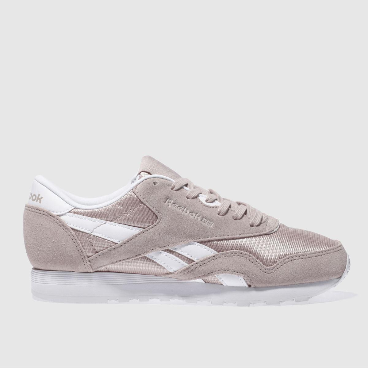 Reebok Reebok Pale Pink Classic Suede & Nylon Trainers