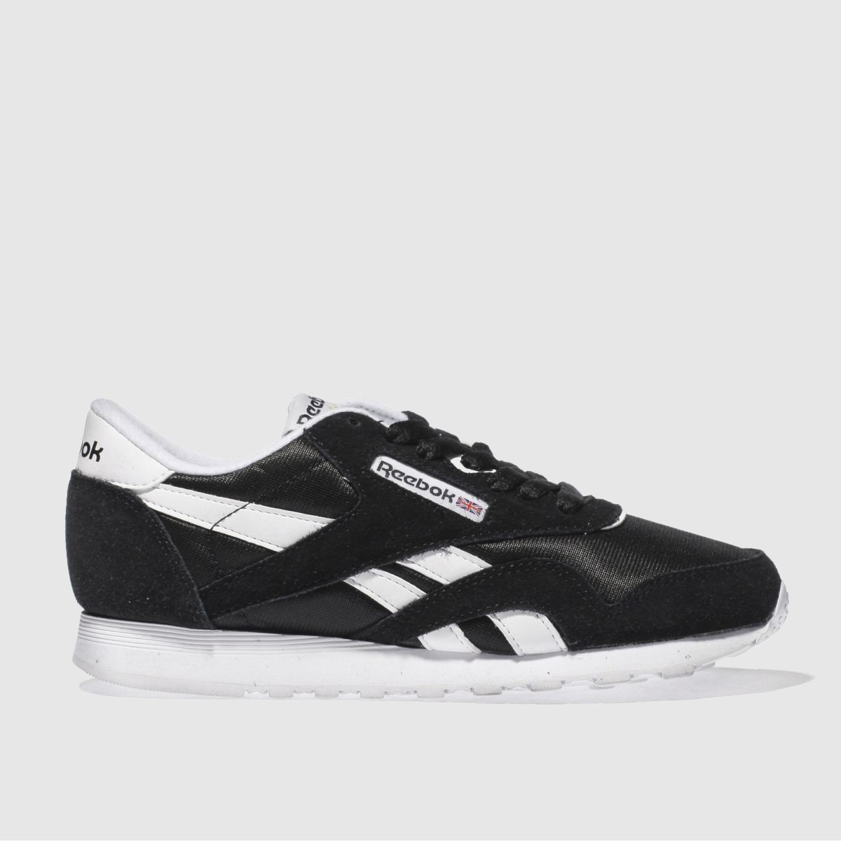Reebok Black & White Classic Nylon Trainers