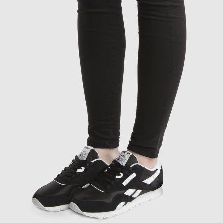 reebok classic black retro trainers