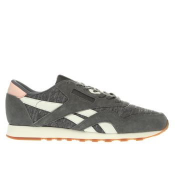 Reebok Dark Grey Classic Nylon Winter Womens Trainers