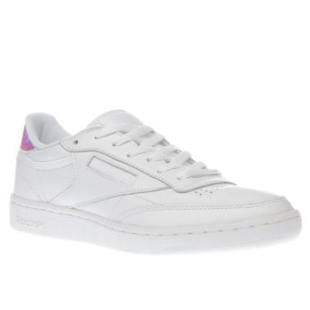 Reebok White Club C 85 Iridescent Trainers
