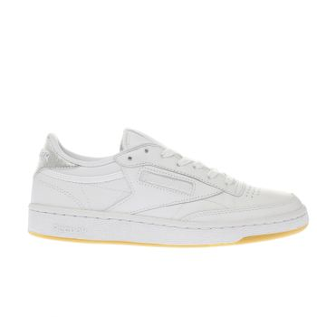 Reebok White & Silver Club C 85 Diamond Trainers