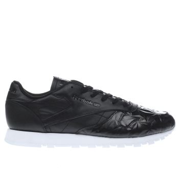 Reebok Black & White Classic Hype Metallic Trainers