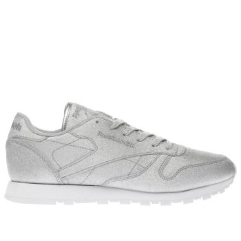 Reebok Silver Classic Diamond Womens Trainers