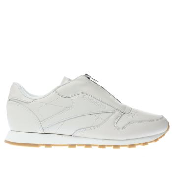 Reebok White Classic Leather Zip Womens Trainers
