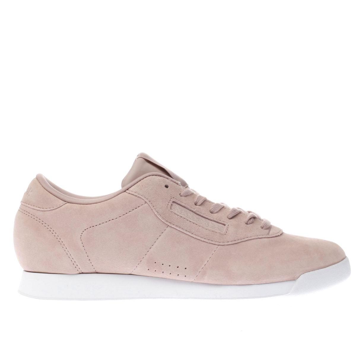 reebok pale pink princess trainers