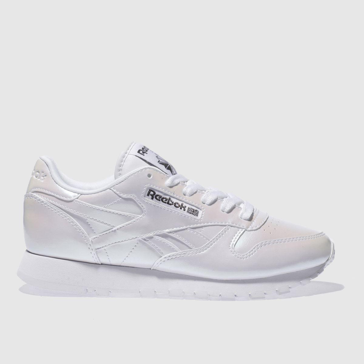 reebok white classic pearl trainers
