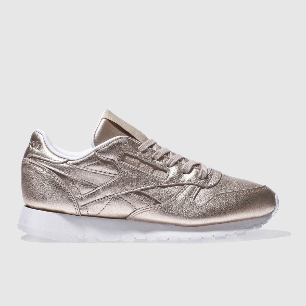 reebok rose gold classic leather pearl trainers