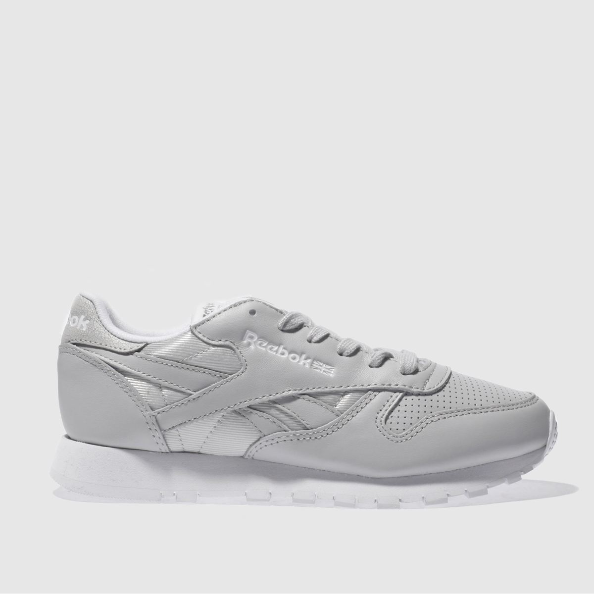 reebok light grey classic leather fbt trainers