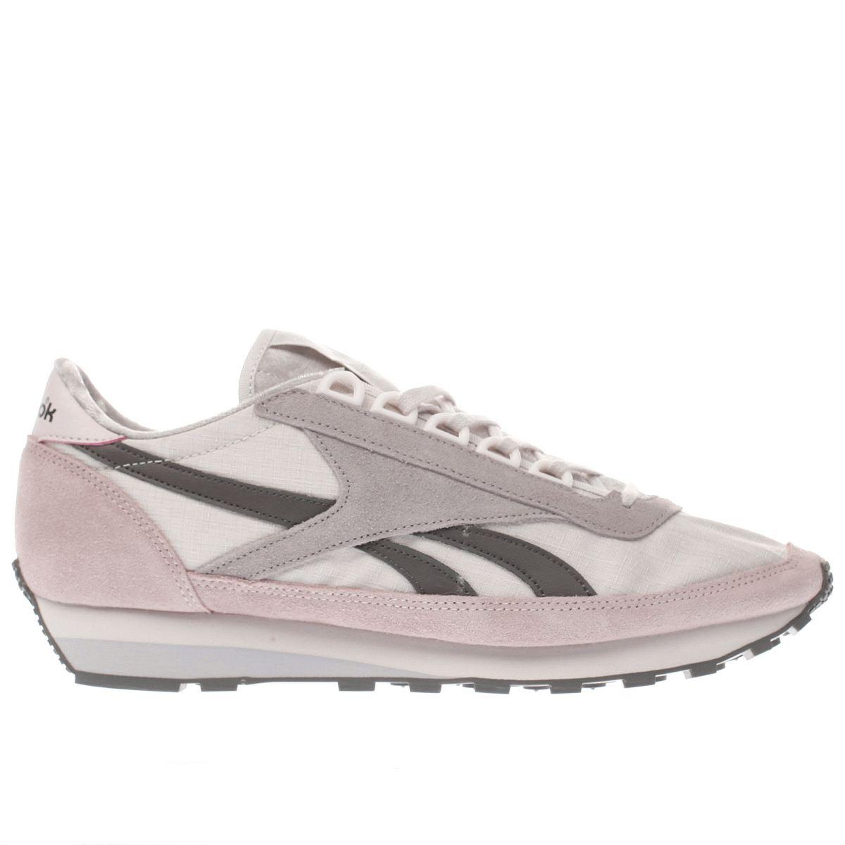 reebok white & pink aztec og trainers