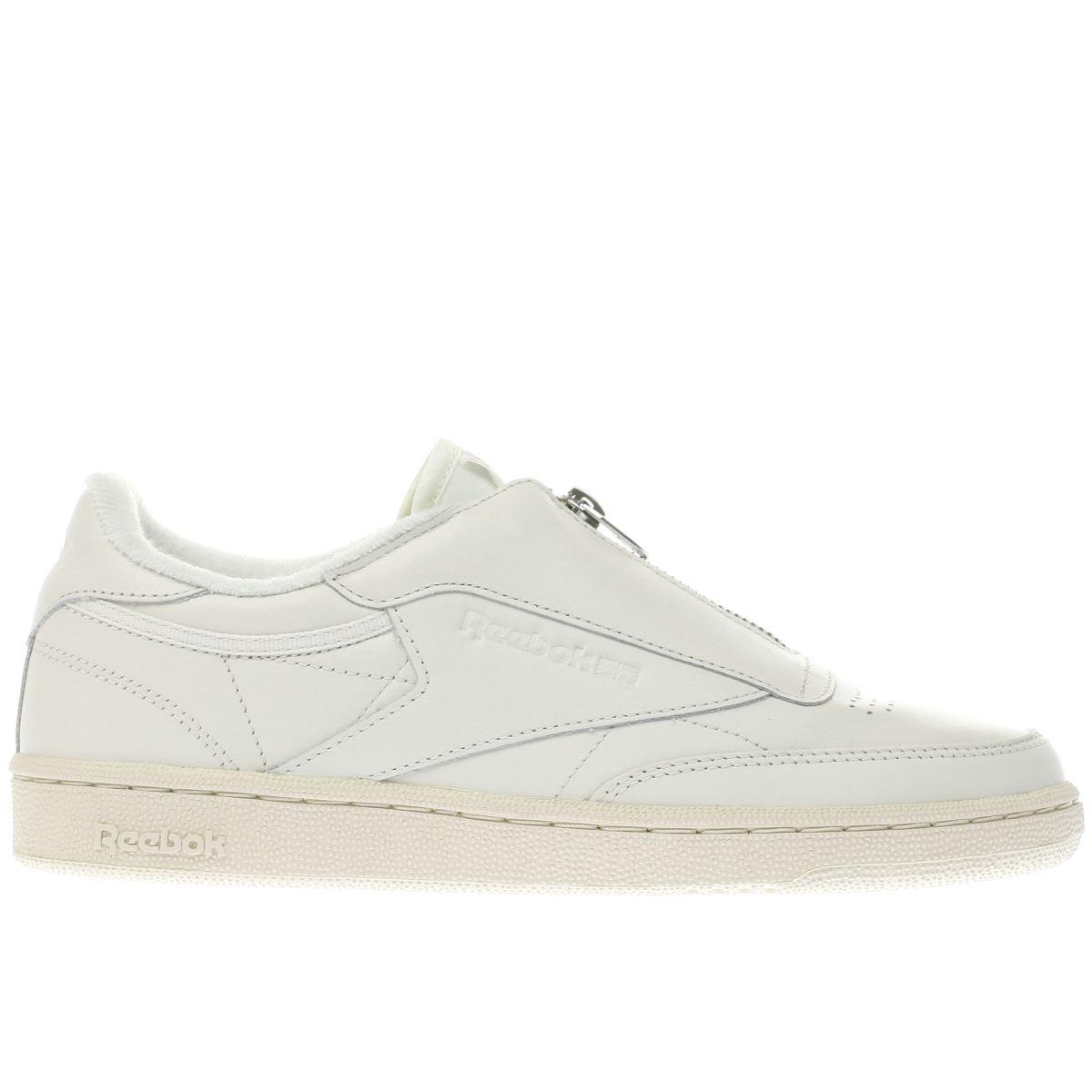 reebok white club c 85 zip trainers