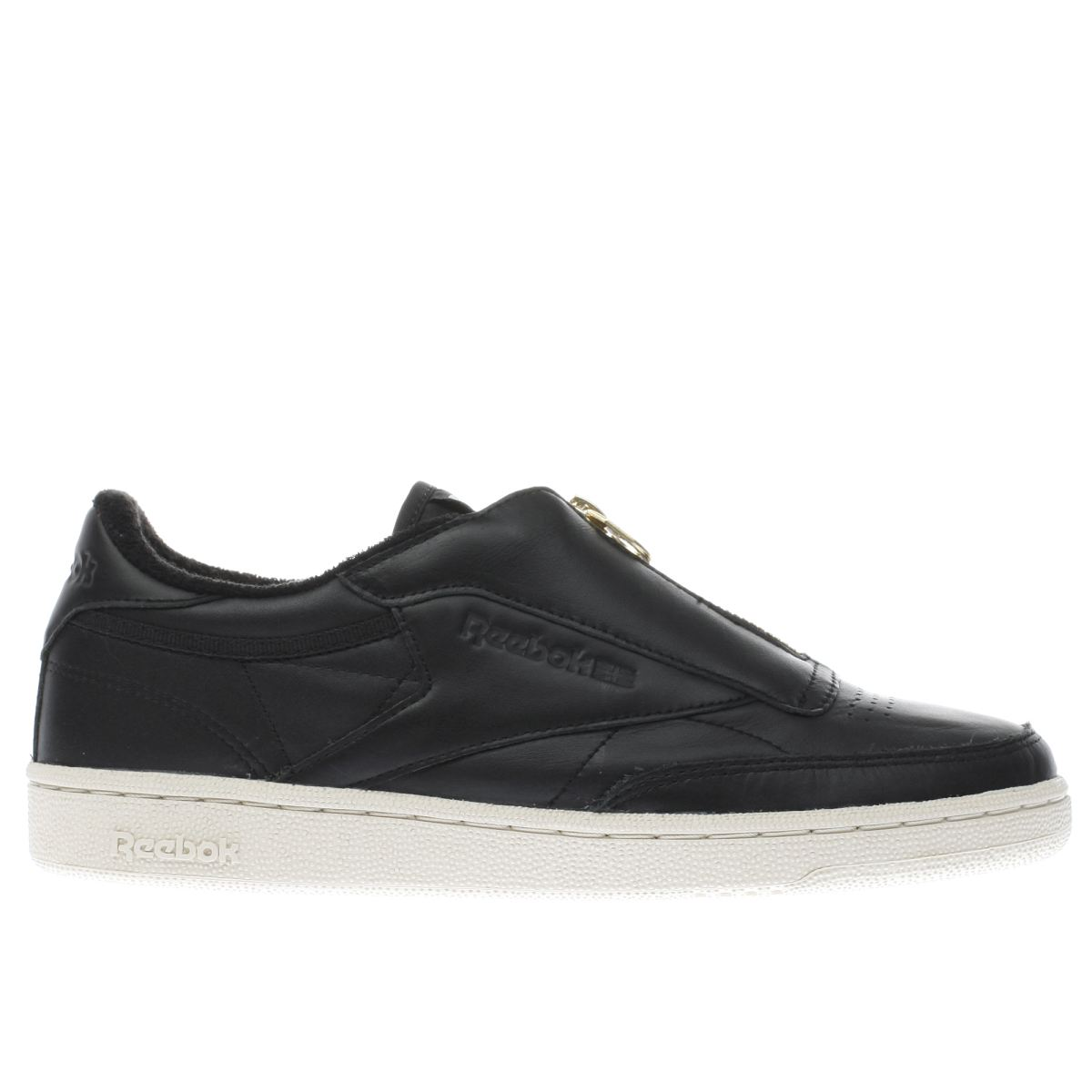 reebok black club c 85 zip trainers