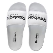 Reebok White & Black Classic Slide Womens Sandals