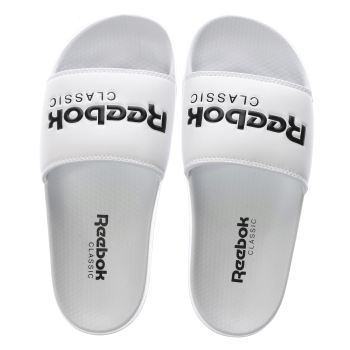 Reebok White & Black Classic Slide Sandals