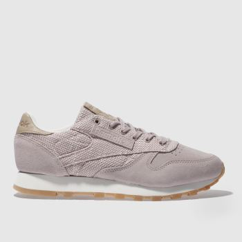 Reebok Pink Classic Leather Ebk Womens Trainers