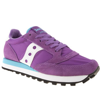 womens saucony purple jazz original trainers