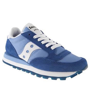 womens saucony blue jazz original trainers