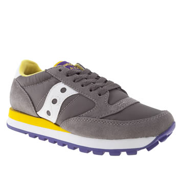 womens saucony grey jazz original trainers