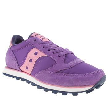 Womens Saucony Purple Jazz Lo Pro Trainers