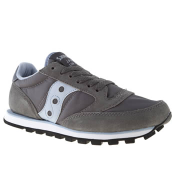 Womens Saucony Grey Jazz Lo Pro Trainers