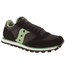 Black & Green Saucony Jazz Lo Pro