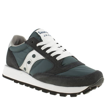 Womens Saucony Navy & Silver Jazz Original Ii Trainers