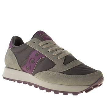Womens Saucony Grey Jazz Original Ii Trainers