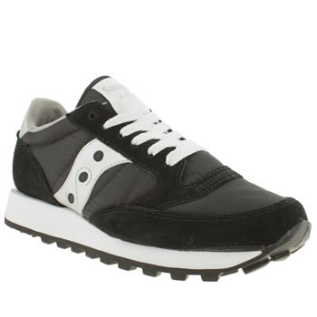 Womens Saucony Black & Silver Jazz Original Trainers