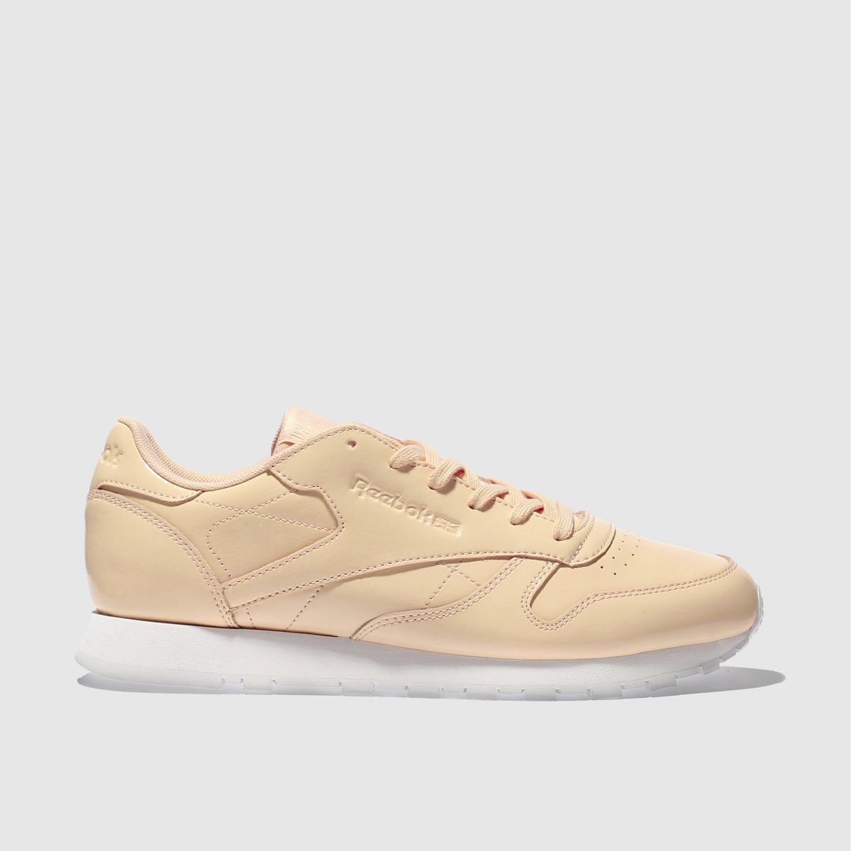 reebok natural classic leather patent trainers