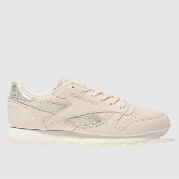 Reebok Pink Classic Leather Shimmer Womens Trainers