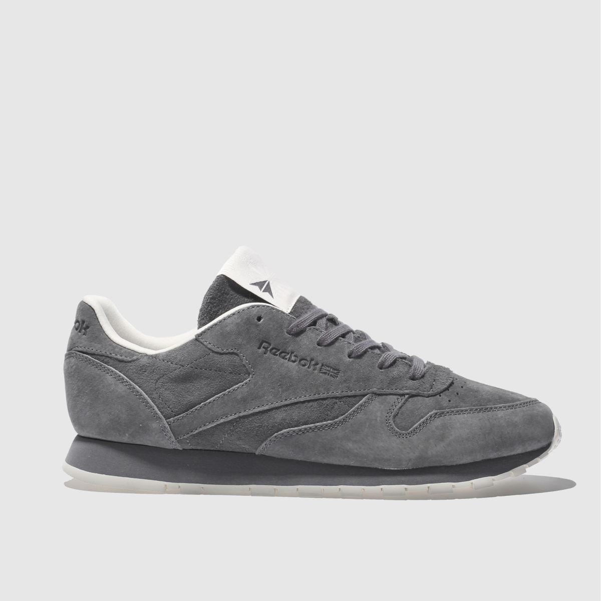 reebok dark grey classic leather tonal nbk trainers
