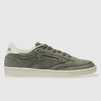 Reebok Khaki Club C Vintage Womens Trainers