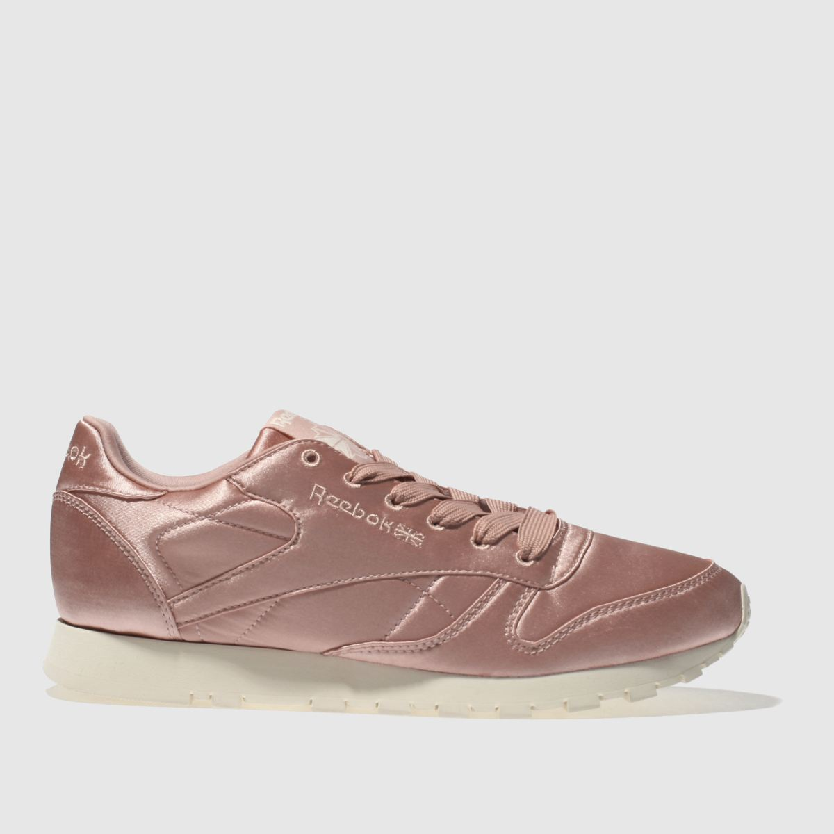 Reebok Pink Classic Leather Satin Trainers