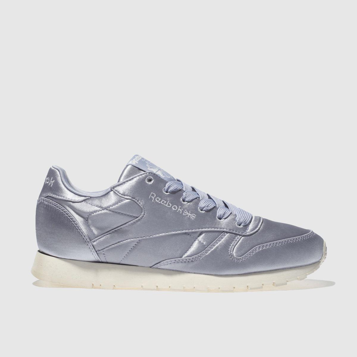 Reebok Light Blue Classic Leather Satin Trainers