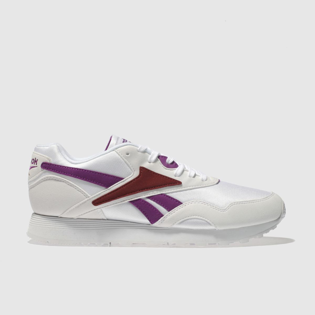 Reebok White & Purple Rapide Trainers