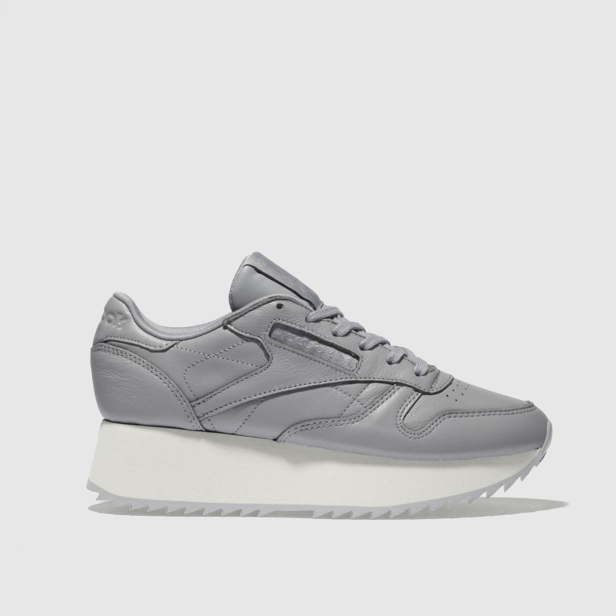 Reebok Dark Grey Classic Leather Platform Trainers